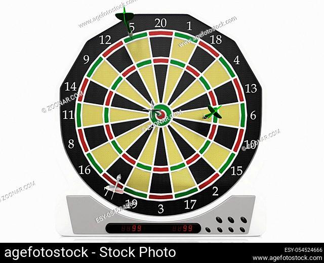 dartboard on a white background