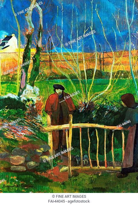 Bonjour Monsieur Gauguin by Gauguin, Paul Eugéne Henri (1848-1903)/Oil on canvas/Postimpressionism/1889/France/Hammer Museum Los Angeles/74, 9x54