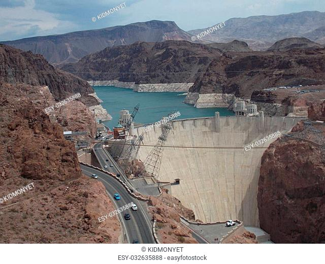 Hoover Dam seen from the left