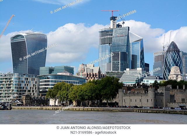 The City Financial District. London, England, Great Britain, Europe