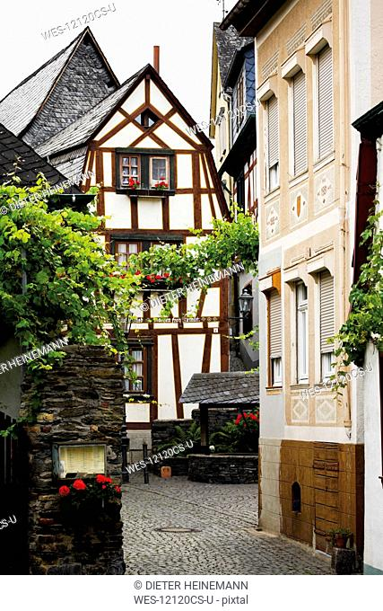 Germany, North Rhine Westphalia, Old town of Bacharach