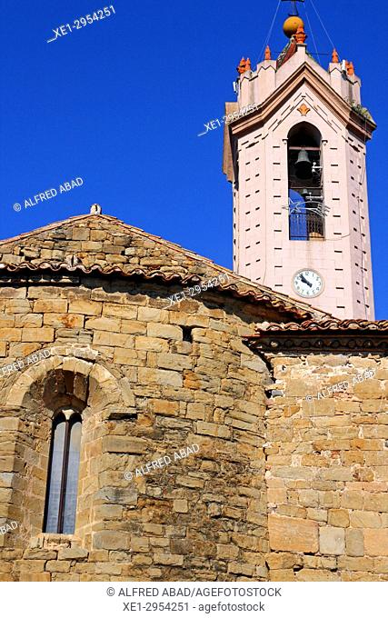 bell tower of the church of Sant Julià, Verges, Girona, Catalonia, Spain