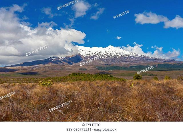 Mt. Ruapehu volcano, Tongariro Crossing National Park - New Zealand