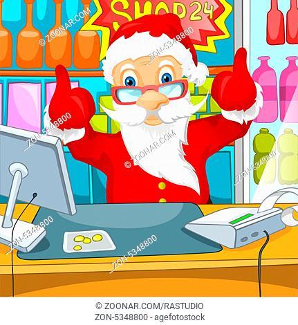 Cartoon Character Santa Claus. Vector EPS 10