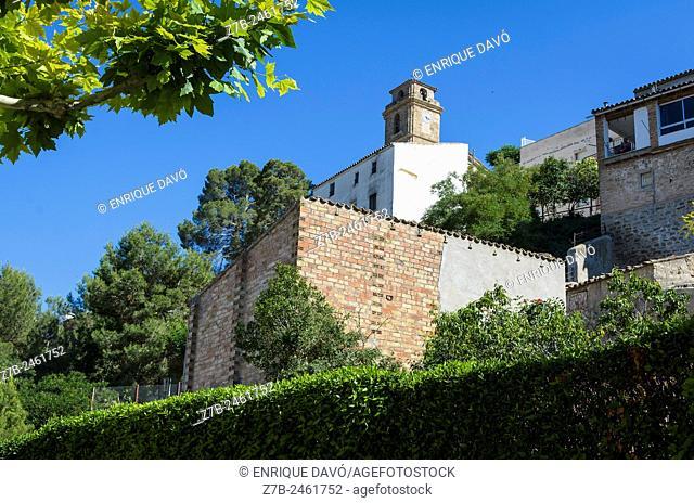 Down view of St Michel church in Sentiu of Sio, Leida province, Spain