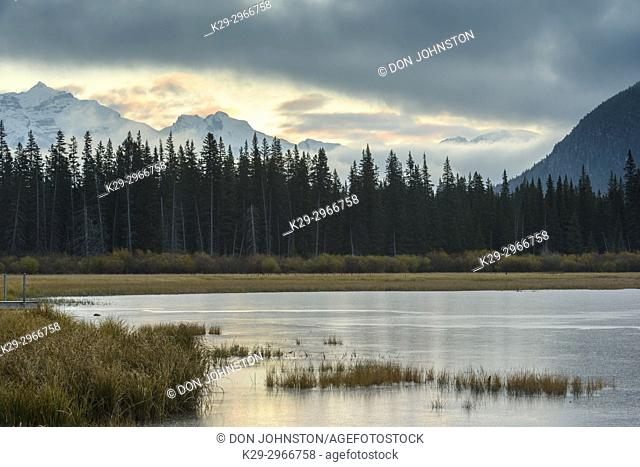 Vermilion Lakes and the Fairholm Range, Banff National Park, Alberta, Canada