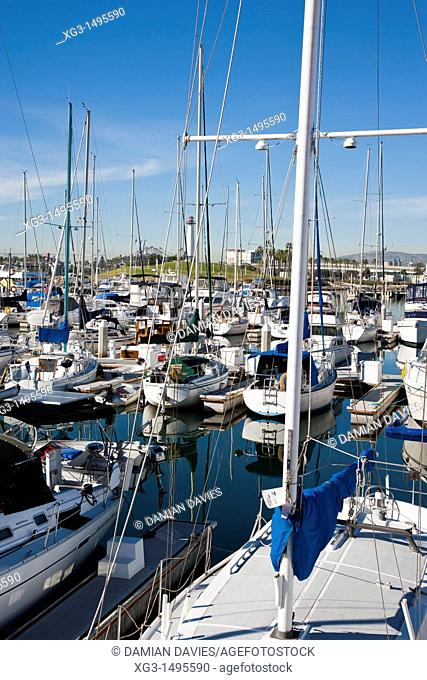 Harbour, marina and waterfont at Long Beach, California, USA