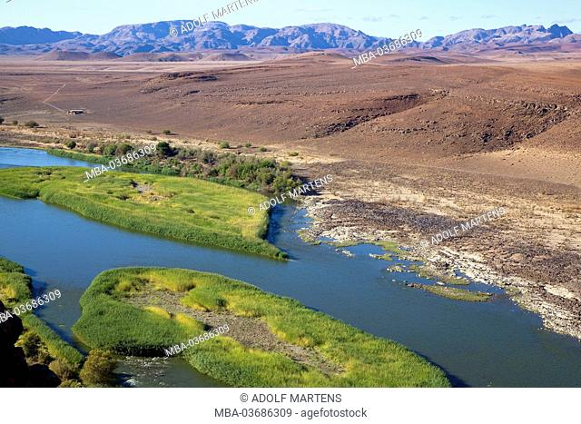 Africa, southern Africa, Namibia, Ai-Ais Richtersveld Transfrontier park, Oranje, border river, South Africa, Namibia