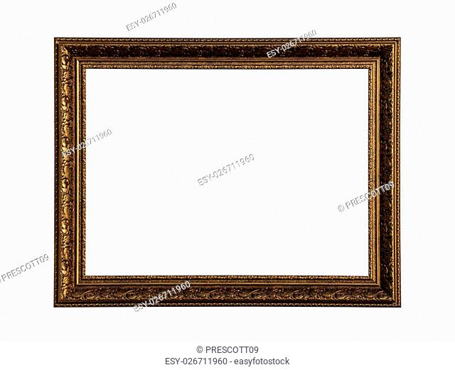 Classic painting canvas frame isolated on white background