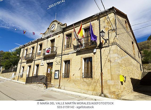 Town hall in Muriel de la Fuente. Soria. Castilla León. Spain. Europe