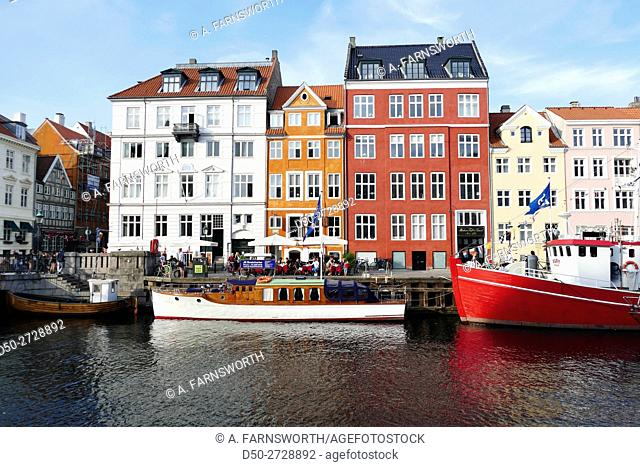 COPENHAGEN, DENMARK Nyhavn area, a popular tourist destination