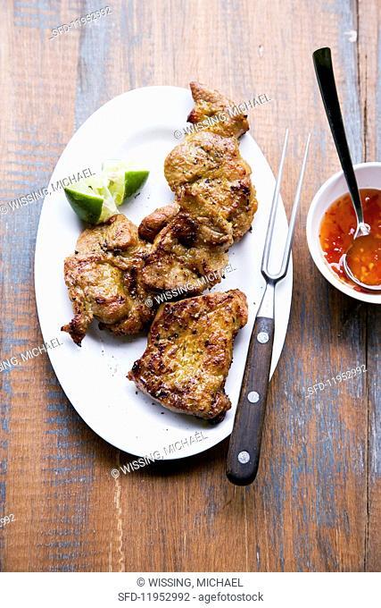 Muh Rü Nüa Yang (grilled pork, Thailand)