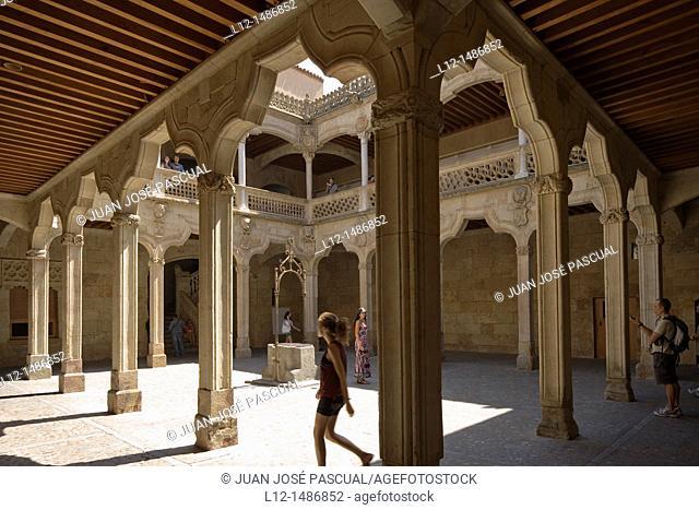 Casa de las Conchas, House of the shells, patio, Salamanca, Castilla y León, Spain