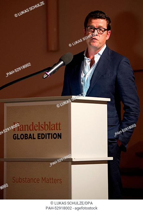 Former German Minister for Economics and Minister of Defence and current chairman of Spitzberg Partners LLC, Karl-Theodor zu Guttenberg