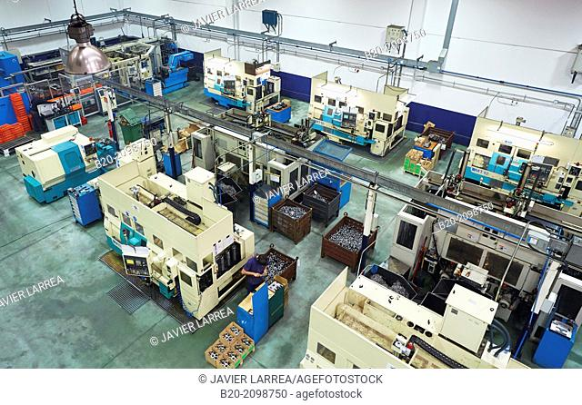 Area automated CNC lathes. Machined Indecober. Machining of precision parts in series. Automotive industry. Berriz. Bizkaia. Basque Country. Spain