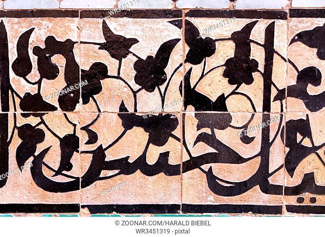 Verzierung an einem Bauwerk, Marokko