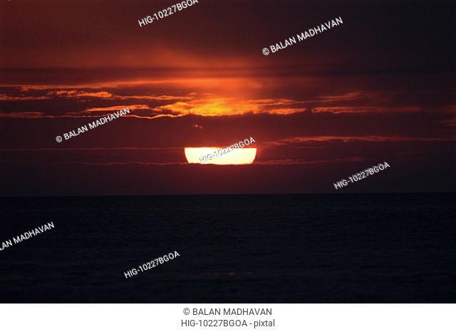 SUN SET IN CALANGUTE BEACH, GOA, INDIA