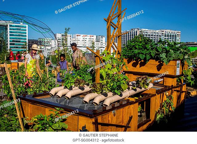 GARDENING WORKSHOP, LIVING ROOF, URBAN FARMING TAKES UP RESIDENCE FOR THE FIRST TIME ON THE ROOF TERRACE OF THE CITE DE LA MODE ET DU DESIGN