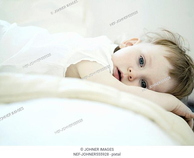 Portrait of a little girl, Sweden