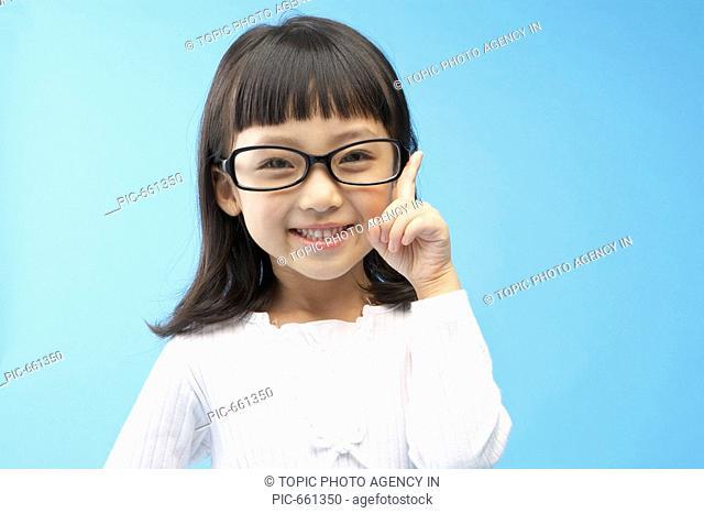 Korean Girl Wearing Glasses