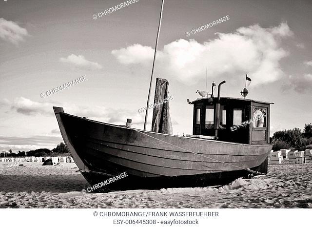 Fishing Boat at Baltic Sea Beach