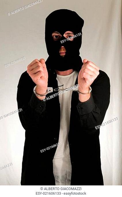 Man Traped in Handuffs