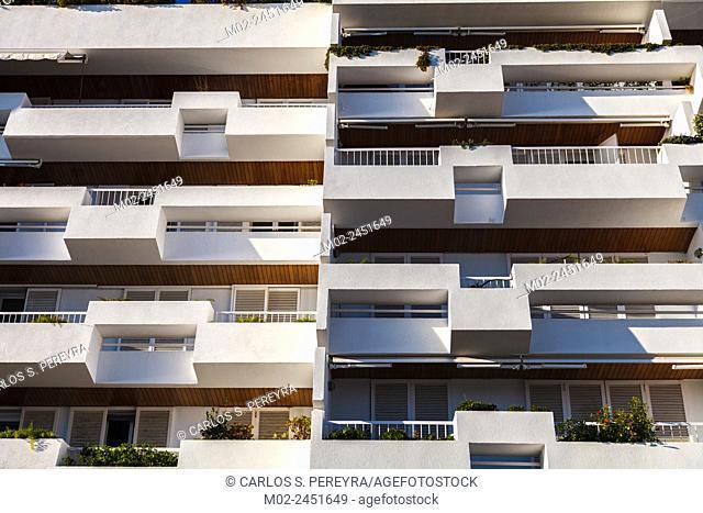 Architecture in San Pol de Mar in Catalonia, Spain