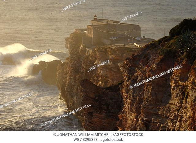 PORTUGAL Nazare -- 04 Jan 2015 -- Since professional surfers began breaking records in 2011, the Farol da Nazare (Nazare lighthouse) situated on the Forte de...