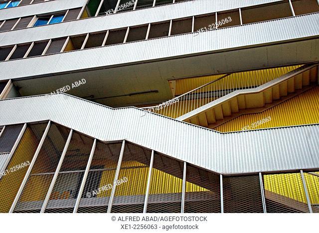 Stairs, Torre Júlia, 2011, Nou Barris district, Barcelona, Catalonia, Spain
