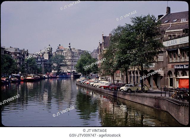 Singel Canal, Amsterdam, Netherlands, 1963