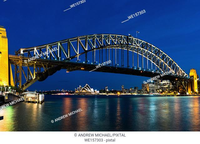 Sydney Opera House with Harbour bridge, Sydney, New South Wales, Australia