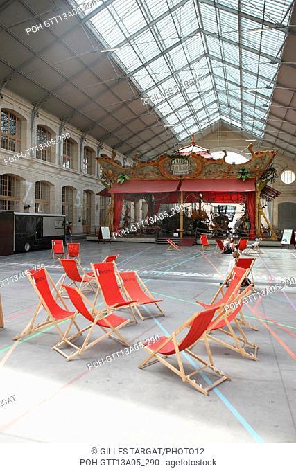 France, ile de france, paris, 18e arrondissement, 104 rue d'aubervilliers, le centquatre, centre artistique de la ville de paris, anciennes pompes funebres