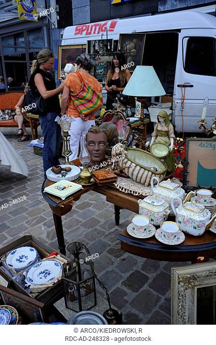 Stall on flea market Tongeren Limburg Flanders Belgium