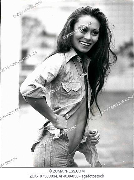 Mar. 03, 1975 - South East Asia's Top Model In London: Southe East Asia's top model Jeanine Siniscal, who appears in Euan Lloyd's Paper Tiger