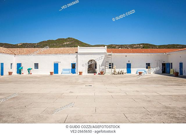 Asinara Island - one of the former prison of Cala Oliva, Porto Torres, Sardegna (Sardinia), Italy