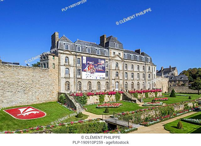 Château de l'Hermine, 1785 castle and garden in the city Vannes, Morbihan, Brittany, France