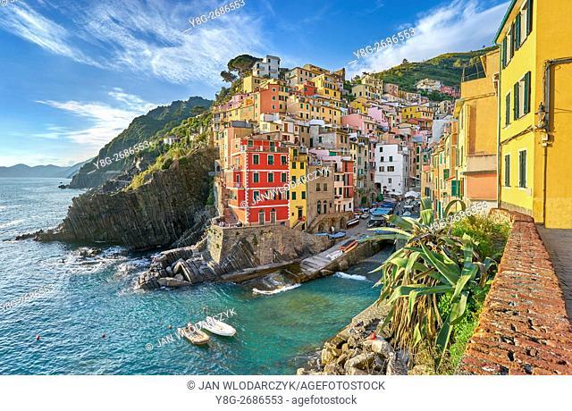 Riomaggiore, Riviera de Levanto, Cinque Terre, Liguria, Italy