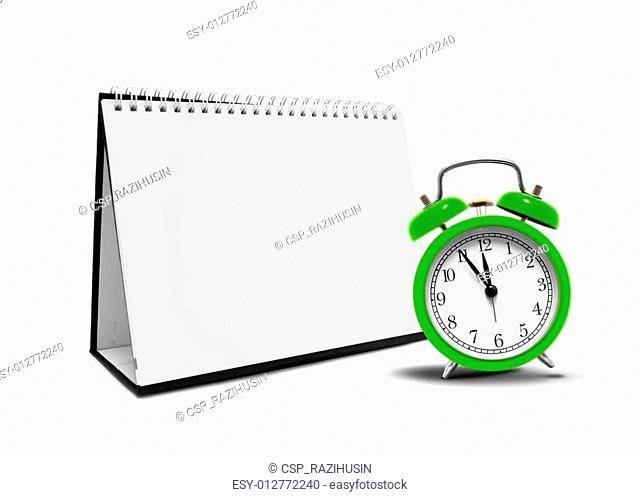 Blank Desktop Calender and Clock
