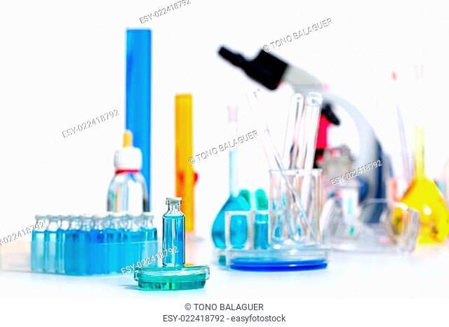 Chemical scientific laboratory stuff test tube flask