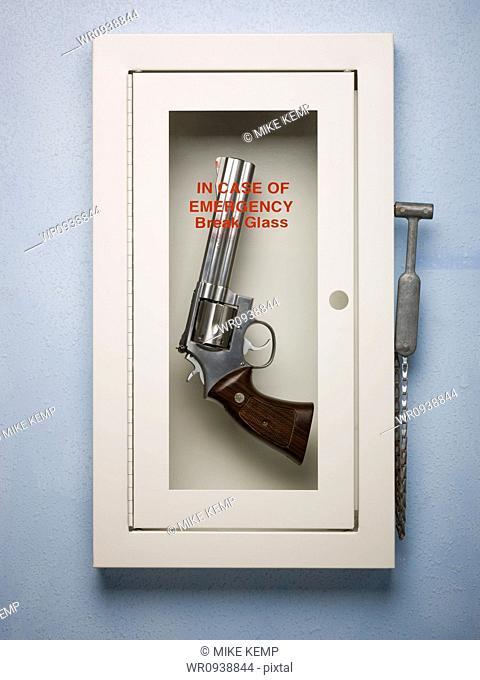 hand gun in a emergency case