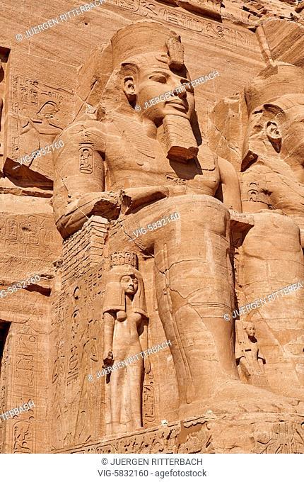 EGYPT, ABU SIMBEL, 11.11.2016, Great Temple of Ramesses II, Abu Simbel temples, Egypt, Africa - Abu Simbel, Egypt, 11/11/2016