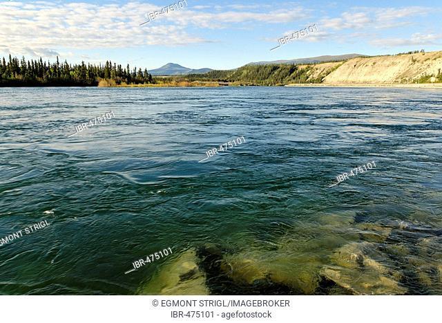 Yukon river in Whitehorse, Yukon Territory, Canada