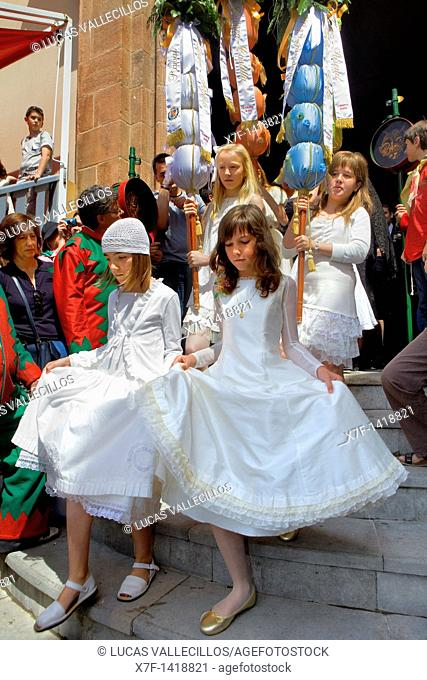 Babes of communion La Patum Masterpiece of Oral and Intangible Heritage by UNESCO Berga  Barcelona  Catalonia  Spain