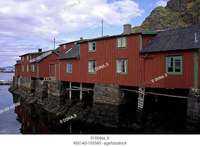 Fishermen cabins Stamsund Lofoten Island Norway fishermen cabin