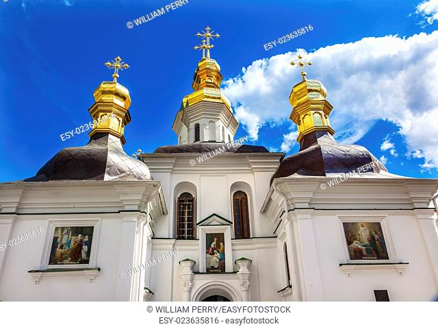 Birth Blessed Virgin Church Holy Assumption Pechrsk Lavra Cathedra Kiev Ukraine. Oldest Ortordox Monastery In Ukraine and Russia, dating from 1051
