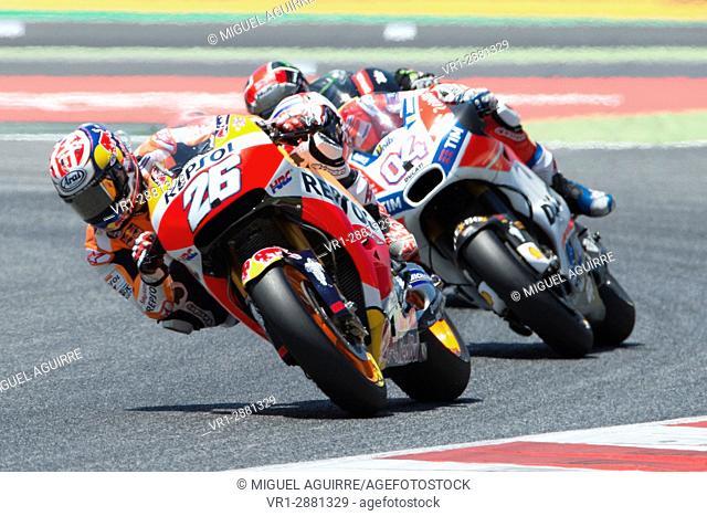 Driver Dani Pedrosa. Repsol Honda Team. Monster Energy Grand Prix of Catalonia MotoGP at Circuit of Catalonia. Barcelona, Spain, June 11, 2017