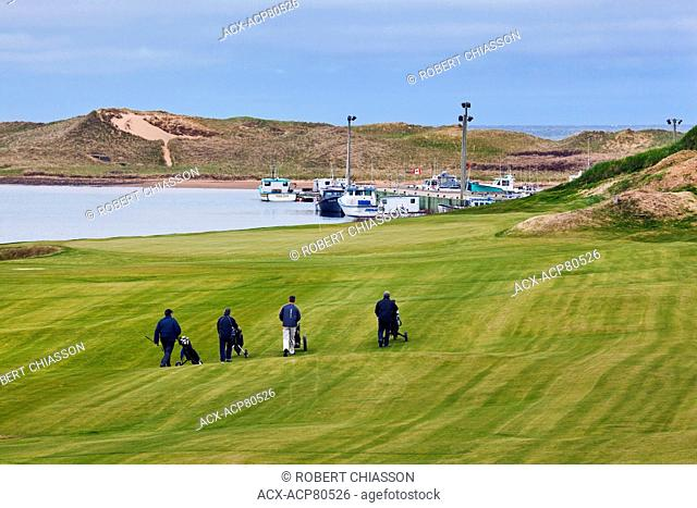 With several holes directly on the edge of the Gulf of St. Lawrence in Inverness, Cape Breton, the Cabot Links Golf Course features a wharf where local lobster...