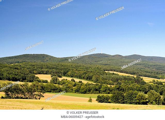 Günser mountains with the Geschriebenstein, Austria, Burgenland, Stadtschlaining