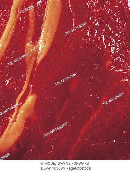 Raw steak, close-up