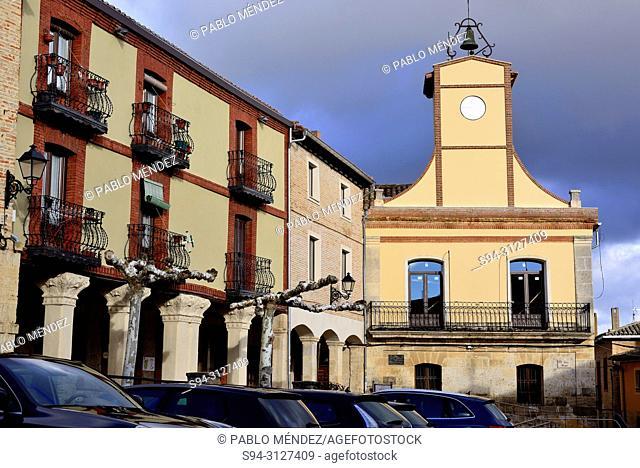 Main square of Castrojeriz, Burgos, Spain